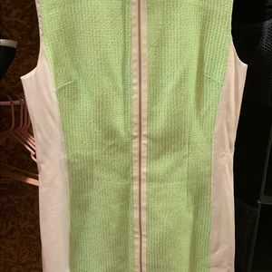 Elie Tahari dress in lime green and white